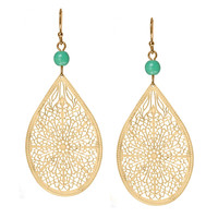 Turquoise &amp; Gold Drop Earrings