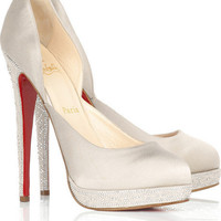 Christian Louboutin Eugenie satin pumps - $165
