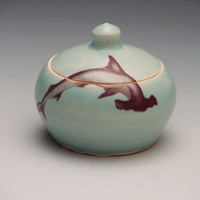 Hammerhead Shark Tiny Jar /Pottery