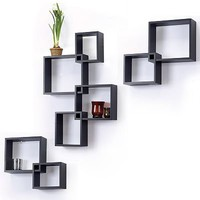 8-pc. Interlocking Cube Wall Shelf Set