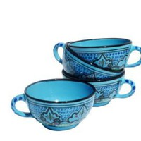 One Kings Lane - The Mediterranean Table - Le Souk S/4 Latte/Soup Mugs, Sabrine