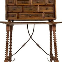 One Kings Lane - Rachel Horn Interiors - Antique Colonial Bargueno Trunk