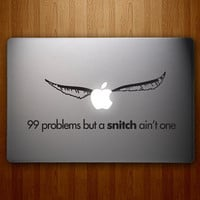 99 Problems But A Snitch Ain&#x27;t One Harry Potter by DecalLab