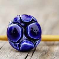 Deep indigo porcelain ring by LAccentNou on Etsy