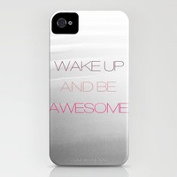 Be Awesome iPhone Case by Galaxy Eyes | Society6