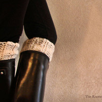the kilkenny boot cuff/boot warmerfisherman by TheKnottedPearl