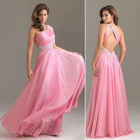 Beaded One-shoulder Ball gown/Party/Prom dress Evening dress Sz 6 8 10 12 14