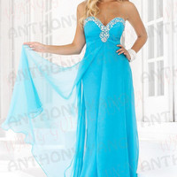 2013 New !Hot A-line Ball Gown Sweetheart Beaded Tulle Long Prom Dress Size 2-28