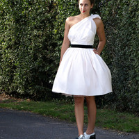 Asymmetric Silk Short Wedding Dress Made by AlexandraKingBridal