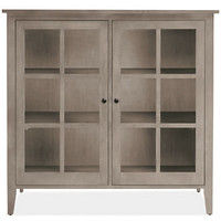 Room & Board - Adams 47h 50w Two-Door Glass Cabinet