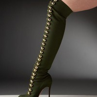 Christian Louboutin Flannel Over The Knee Boot - $238