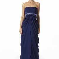 Blue Chiffon Grecian Evening Dresses From VERB