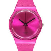 Swatch Watch, Unisex Swiss Deep Pink Solid Pink Silicone Strap 34mm GP139 - Womens 13 Trends for 2013 - Macy's