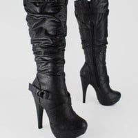 slouchy boot $34.70 in BLACK - New Shoes | GoJane.com