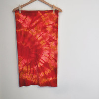 Tie Dye Stretch Knit Pencil Skirt in Organic EcoFriendly by SewRed