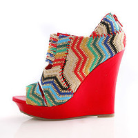Rainbow Stitch Wedges - $39.99 Wedges at Pinkice.com