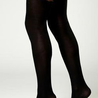 Susan Scalloped Edge Over The Knee Heart Print Tights at boohoo.com