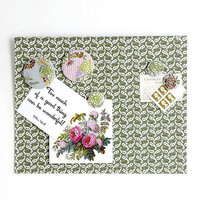 green flower magnet noticeboard 30 off