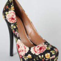 Delicious Jones-H Rosette Platform Pump