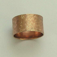 Rose gold textured wedding band Love me tender by artisanimpact
