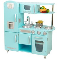Amazon.com: KidKraft Vintage Kitchen in Blue: Toys & Games