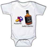 Amazon.com: My pacifier. Daddy's pacifier. - Funny Baby One-piece Bodysuit by Funny Tots: Clothing
