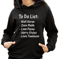 One Direction Hoody - To do List - Funny 1 Direction Hoody Hoodie (2177)