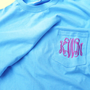 monogrammed pocket t-shirt, personalized pocket t-shirt, Long Sleeved T
