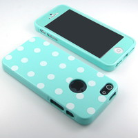G&amp;J New Mint Polka Dot S...