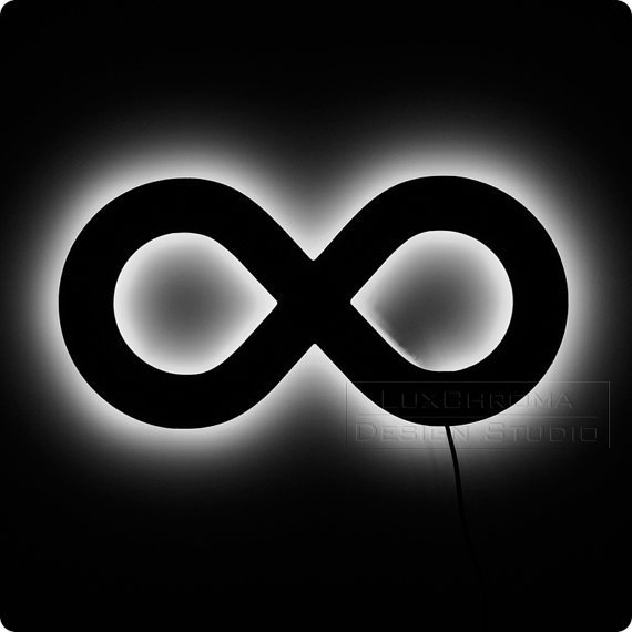 Lighted Infinity Symbol The Ultimate Geek Decor by LuxChroma