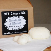 $25.00 Mozzarella and Ricotta DIY Cheese Kit will by UrbanCheesecraft