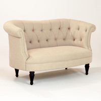 Erin Cute-as-a-Button Loveseat - World Market