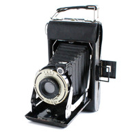Vintage Black Kodak Camera -  Vigilant Junior Six-20 Bimat Folding Camera / Accordion Bellows