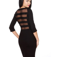 BB Dakota Tanya Dress - Black Dress - Body-Con Dress - $73.00
