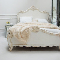 Classical White Rococo Bed - Sweetpea & Willow London