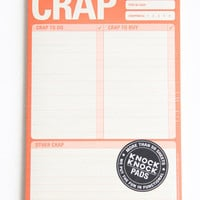 Crap To Do Paper Pad - $9.00 : ThreadSence.com, Your Spot For Indie Clothing  Indie Urban Culture