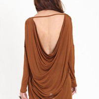 Wanderer Drape Back Tunic in Mustard - $32.00 : ThreadSence.com, Your Spot For Indie Clothing  Indie Urban Culture