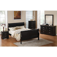 Louis Philippe III 5 PC Bedroom Set in Black - Acme Furniture | Bedroom sets