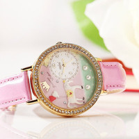Handmade Polymer Clay Watch – Prince Charming's Romance on Claybox