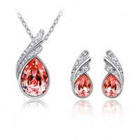 Fashion Kristall Halskette & Ohrringe Schmuck-Set HYC0001 - US$16.96
