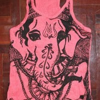 Yoga Ganesha Tank Top Red