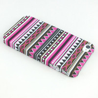 NEW Tribal Tribe Stripe Indian Africa Pattern Case Cover Shell for iPhone 4 G 4S
