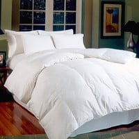 Blue Ridge Home Fashions Aurora White Goose Full/Queen Down Comforter