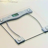 Sleek and Modern Digital Bathroom scale w/ Glass top