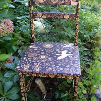 custom small  chair by burnedfurniture on Etsy