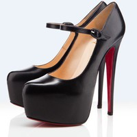 Christin Louboutin Lady Daf 160mm Pumps black - &amp;#36;186