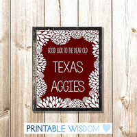 Texas A&M Print, Printable wall art decor, Aggies decoration, digital typography