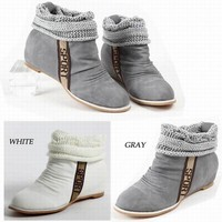 Hot Sale Lovely and Comfortable Style Wool Edge Embellished Short Boots For Women China Wholesale - Sammydress.com