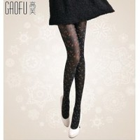 Wholesale Fashion colors leopard girls lovey black tights GF-8115 black - Lovely Fashion