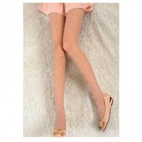 Wholesale Polka dot tights candy color sexy leggings GF-8101 light coffee	 - Lovely Fashion
